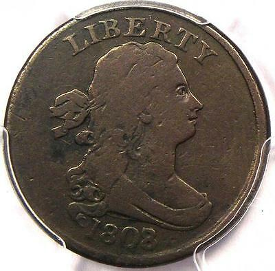 1808/7 Draped Bust Half Cent - PCGS VF Details - Rare Early Date Coin