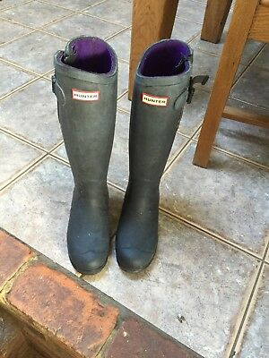 Ladies Hunter Balmoral Boots Size 5