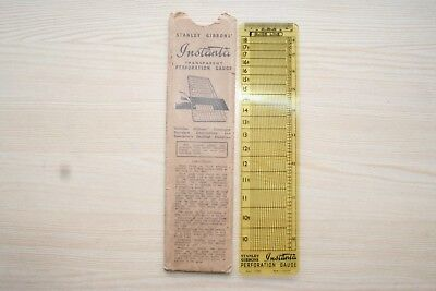 Old Stanley Gibbons perforation gauge.