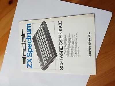 ZX Spectrum original 1982 software catalogue nice condition 8 bit vintage