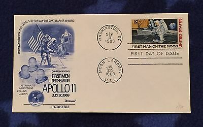 Apollo 11 - First Man On The Moon - First Day Cover - 20 July 1969
