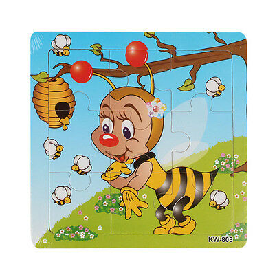 Bee Wooden Kids Children Jigsaw Education And Learning Puzzles Toys