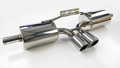 Stainless Steel Porsche 986 2.5 2.7 3.2 Boxster Exhaust Back Box