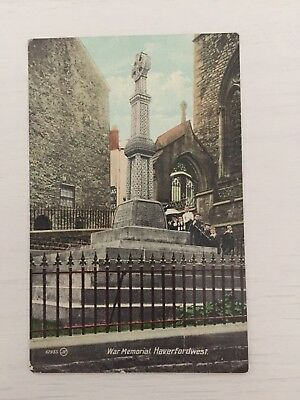 Boer War Memorial Haverfordwest Pembrokeshire Wales