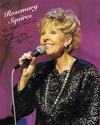 ROSEMARY SQUIRES HAND SIGNED 10 x 8 COLOUR PROMO PHOTOGRAPH