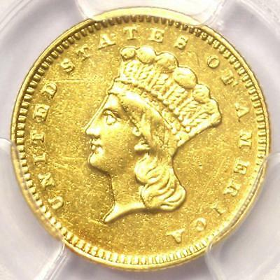1868 Indian Gold Dollar (G$1 Coin) - Certified PCGS AU Details - Rare Date Coin!