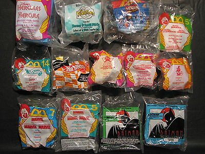 McDonalds Toy pack lot of 13 - unopened, 1990's, mixed lot. action figures etc.