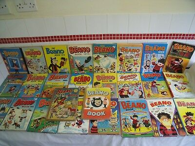 Job Lot 26 X Beano Annuals - 1953 To 2001 - Good Used Condition