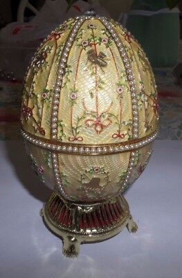 Faberge egg - about 7 inches - signed