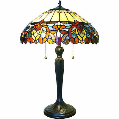 Table lamp stained-glass shade 426 pcs Vintage Bronze Finished Base