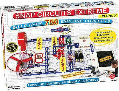 Snap Circuits Extreme SC-750 Build over 750 experiments with 80 parts
