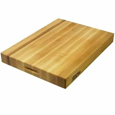 John Boos Solid Maple Cutting Board with Maintenance Products