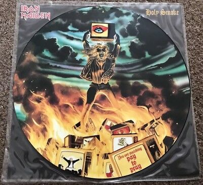 """Iron Maiden Holy Smoke 12"""" Picture Disc - New"""