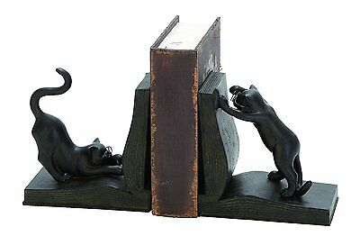 Benzara Polystone Cat Bookend Pair for Books Lovers-(44690)