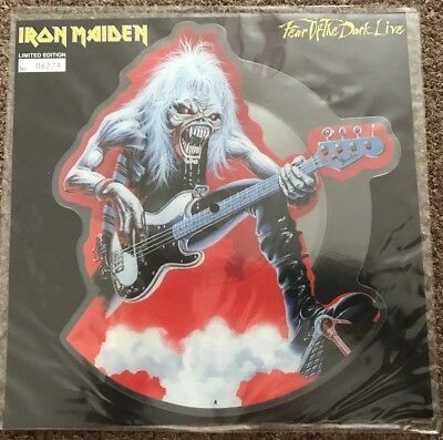 "Iron Maiden Fear Of The Dark 7"" Picture Disc Single Limited Edition - New"