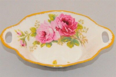 Royal Albert American Beauty  2 handled Serving  Candy / Mint Dish.