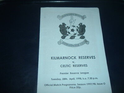 Kilmarnock Reserves v Celtic April 1998