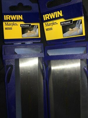 2 Irwin Marples MS500 Soft Touch Bevel Edge Chisels 38mm and 51mm 1.5 and 2 inch