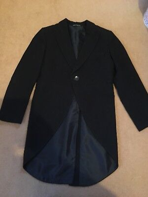 Boys Black Tail Coat Age 9-11