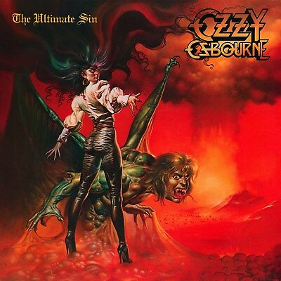 Ozzy Osbourne The Ultimate Sin 12x12 Borderless Album Art Print Replica
