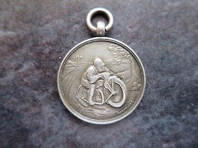 Very Rare 1920's Sterling Silver '' E. & D. A. C.''Motorcycle Racing Medal/Fob