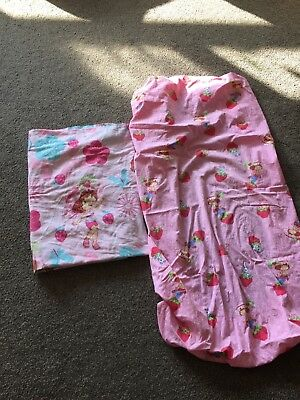 strawberry shortcake sheets for toddler bed