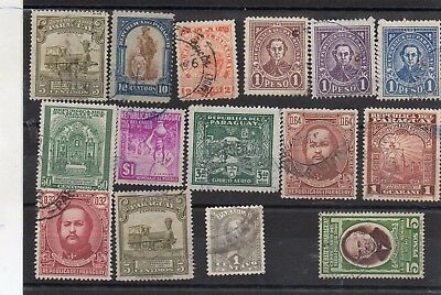 STAMPS - Paraguay mix used