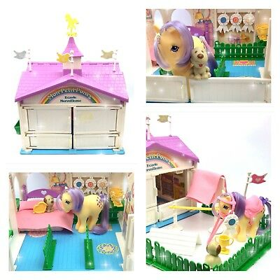 ⭐️ My Little Pony ⭐️ G1 French Show Stable Playset Near Complete w/Accessories!