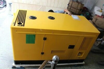 New 30Kw 1 Phase Diesel Powered Generator With Waterproof Enclosure Ship By Sea