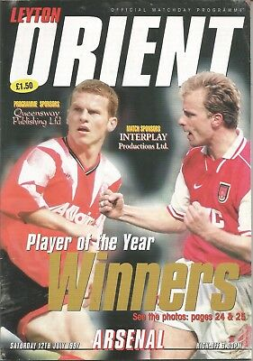 Football Programme - Leyton Orient v Arsenal - Pre-Season Friendly - 12/7/1997
