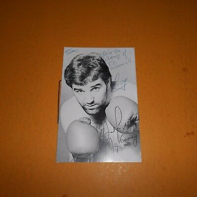 Gerry Cooney is an American former professional boxer Hand Signed Photo
