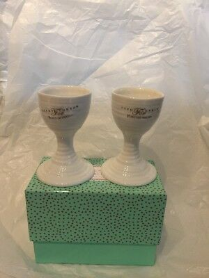 Sophie Conran White Egg Cups - Set of 2 - New/Boxed
