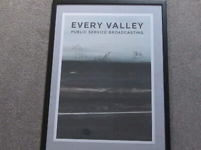 Public Service Broadcasting - 2 RARE SIGNED Posters Race for Space Every Valley