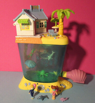 Polly Pocket Mini ♥ Aquarium Dolphin Island ♥ mit 2 Pollys + Delfin ♥ 1996