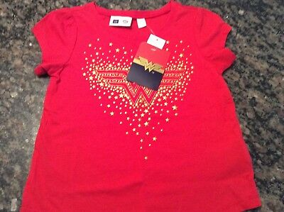 Baby Gap Girls Wonder Woman Short Sleeve Top Tee Shirt   Sz 4 yrs NWT. Free ship