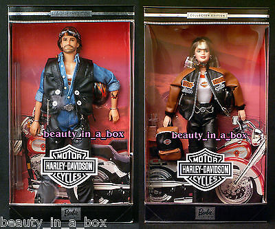 Harley Davidson Barbie Doll #4 Two-Toned Outfit #2 Ken Lot 2 ~ Excellent Boxes