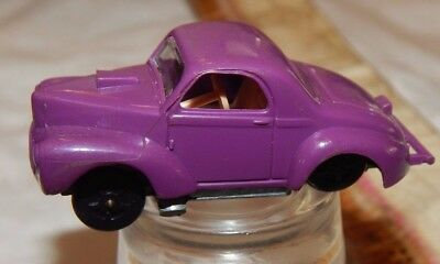 aurora speedline vintage racing car toy cigar box willys gasser purple #6131