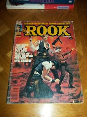 Lot of 5 vintage Magazines 3 The Rook/1 Creepy/1 Eerie no covers on mags 1980s