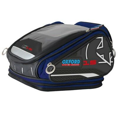 NEW OXFORD X15 QR Quick Release 15 Litre Tank Bag Lifetime Luggage in BLUE