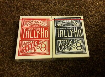 Tally ho playing cards. 2 decks.