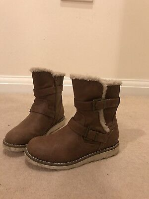 Girls Brown Ankle Boots Size 13