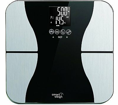 New Smart Weigh Body Fat Digital Precision Scale with Tempered Glass Platform