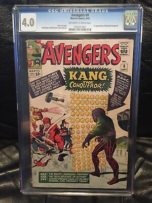 Avengers (1963 1st Series) #8 CGC 4.0 Kang the Conqueror NO RESERVE + FREE SHIP