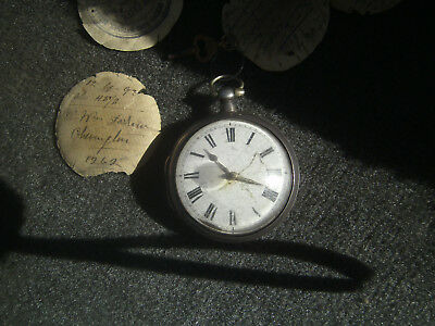 ENGLISH 19th CENTURY TANNER STERLING SILVER POCKET WATCH