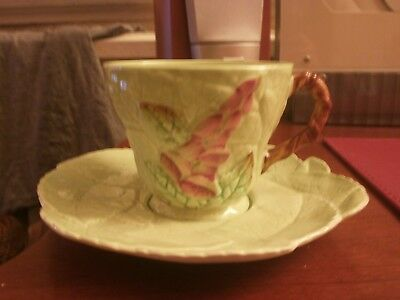 Carlton Ware Decorative Cup & Saucer In Foxglove Design -good cond