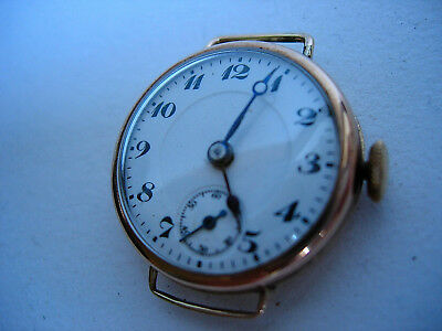 Lovely stylish `Vintage Swiss made  -9 ct gold Ladies wristwatch 10.40 grams