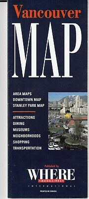 VANCOUVER,BRITISH COLUMBIA CITY MAP and ATTRACTIONS