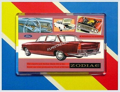 Ford Zodiac Mk3 New Jumbo Fridge / Locker Magnet