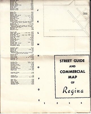 STREET GUIDE and COMMERCIAL MAP OF REGINA