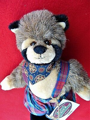 """""""cottage Collectibles """" ~ 10 Inch  Adorable """"ricky"""" Racoon ~ Cost $20.00"""